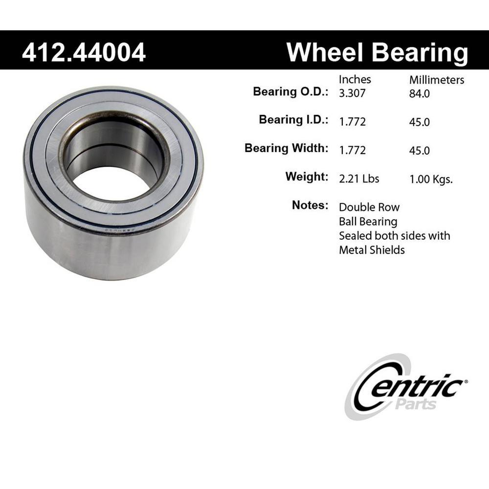 Centric 412.44004E Front Wheel Bearing