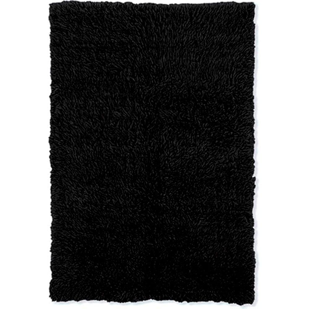 Linon Home Decor 3A Flokati Black 7 ft. x 10 ft. Area Rug