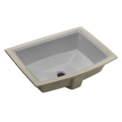 Archer Vitreous China Undermount Bathroom Sink with Overflow Drain in Ice Grey