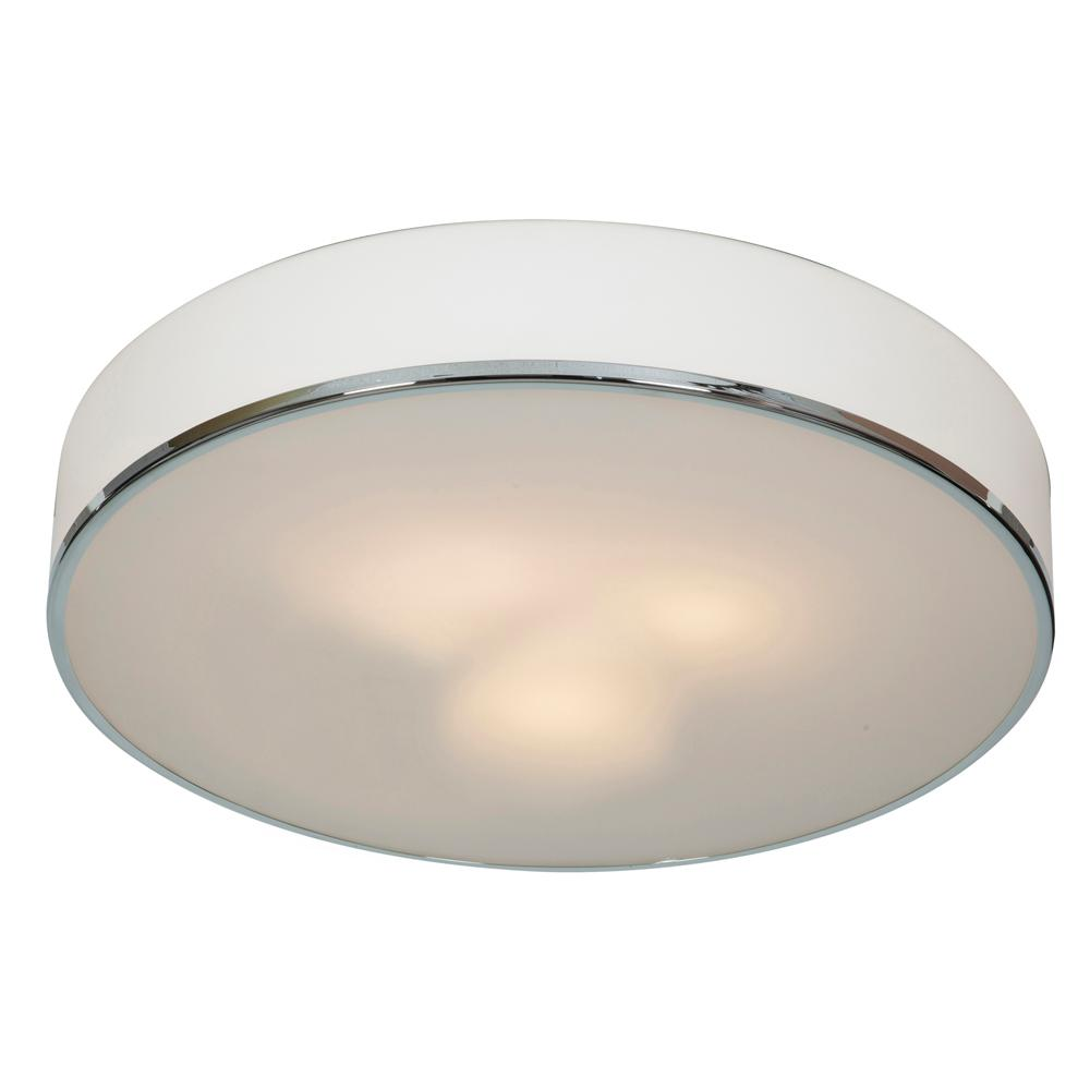 Access Lighting Aero 19 5 In 3 Light Chrome Flush Mount With Opal Diffuser