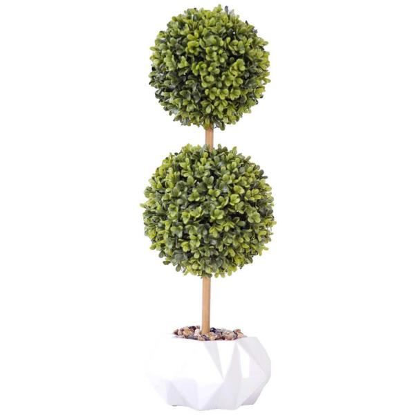 Laura Ashley 22 in. Tall Topiary Artificial Indoor/ Outdoor Faux Dcor