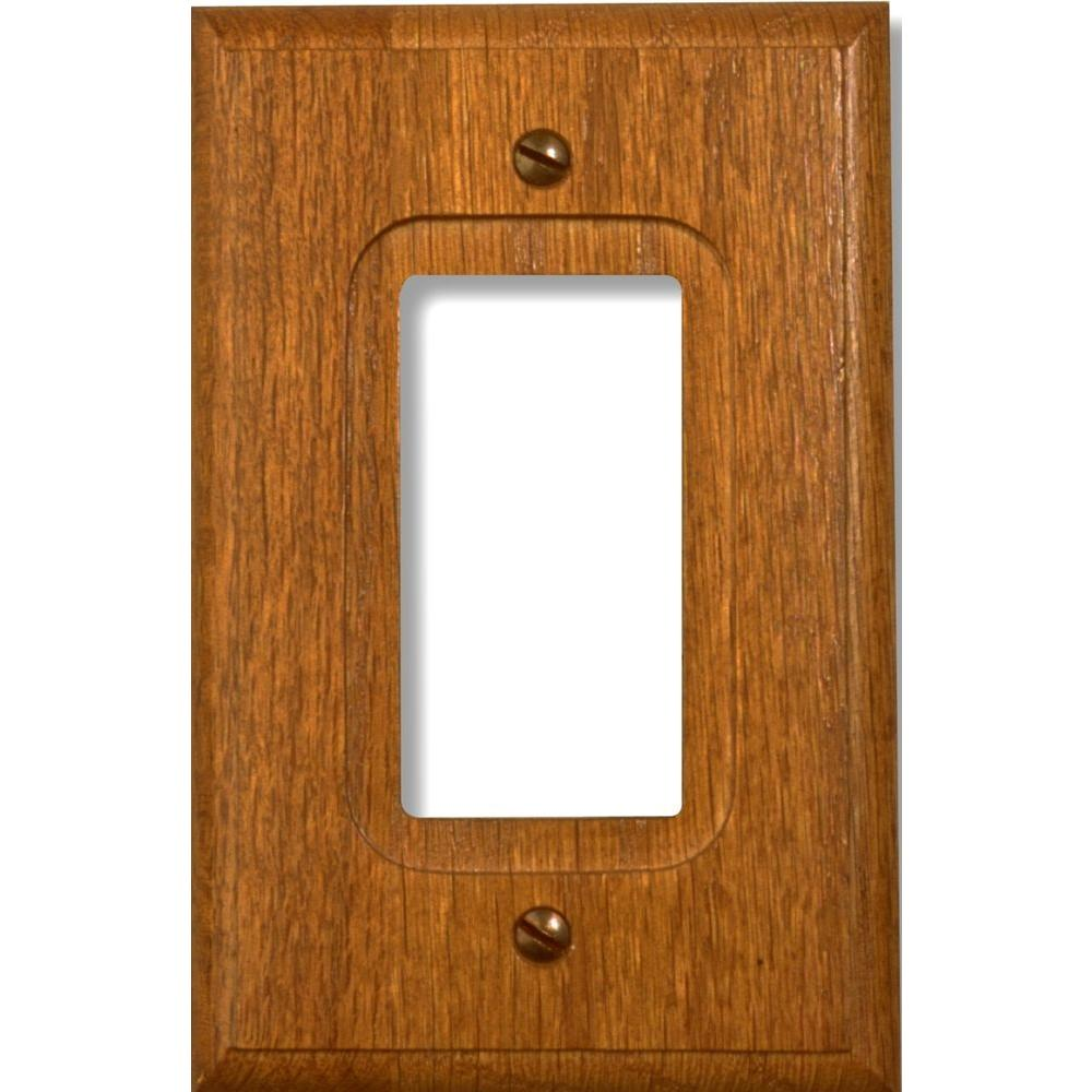 amerelle 1 decora wall plate red oak