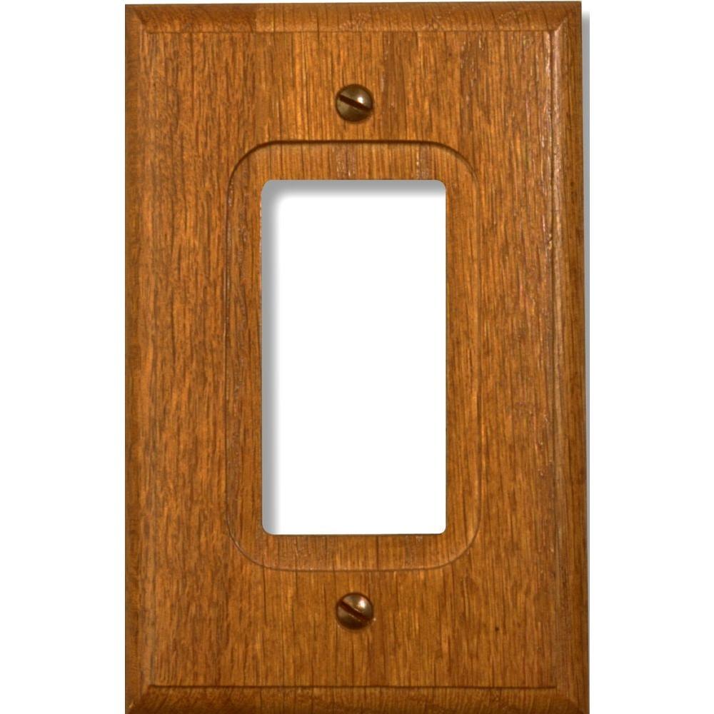 1 Decora Wall Plate - Red Oak