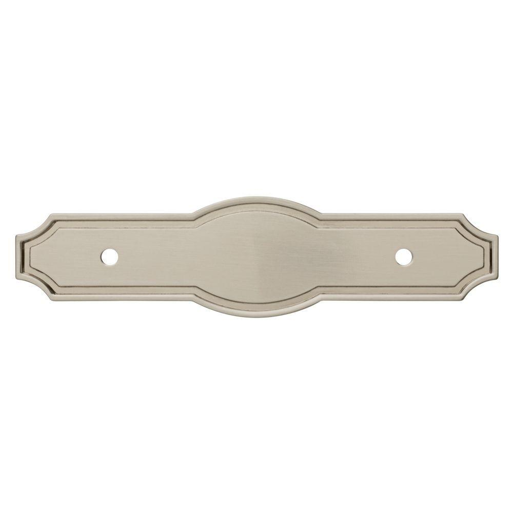 Liberty Pryce 3 in. Satin Nickel Drawer Pull Backplate-P33410C-SN-C ...