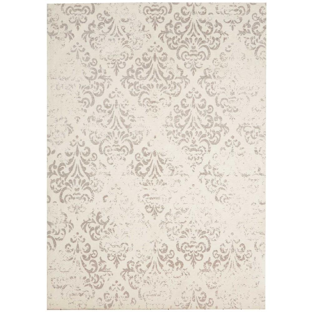 Damask Ivory 5 ft. x 7 ft. Area Rug
