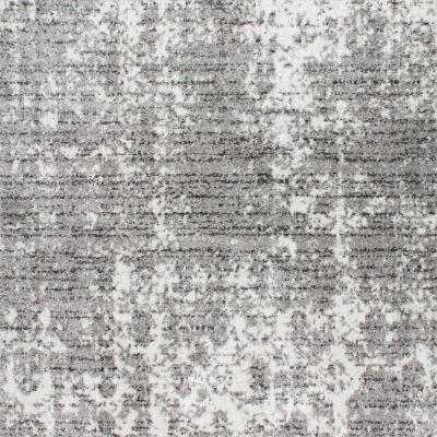 Deedra Misty Contemporary Gray 6 ft. Square Rug