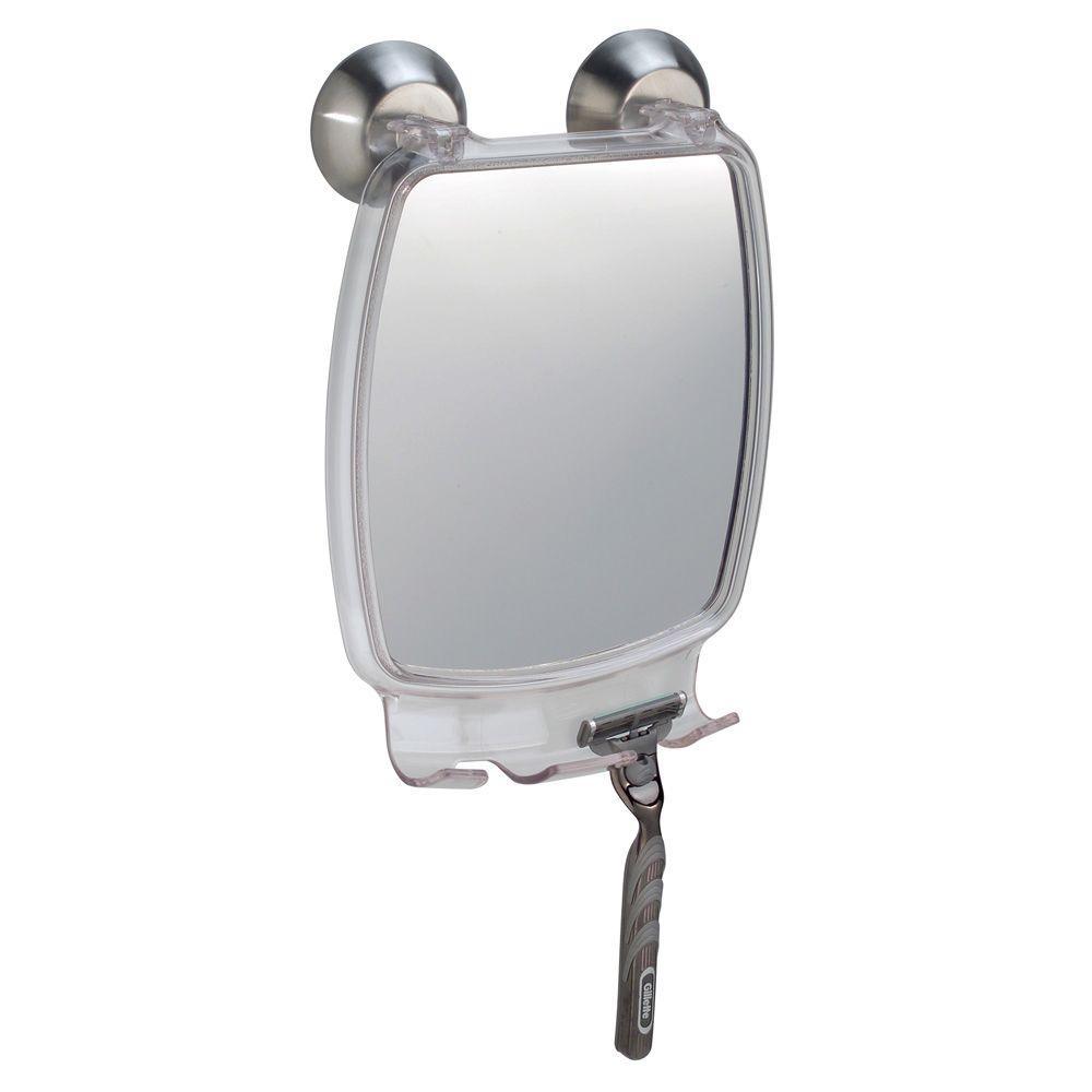 Forma 7 in. W x 10 in. H Framed Rectangular Anti-Fog Bathroom Vanity Mirror in clear