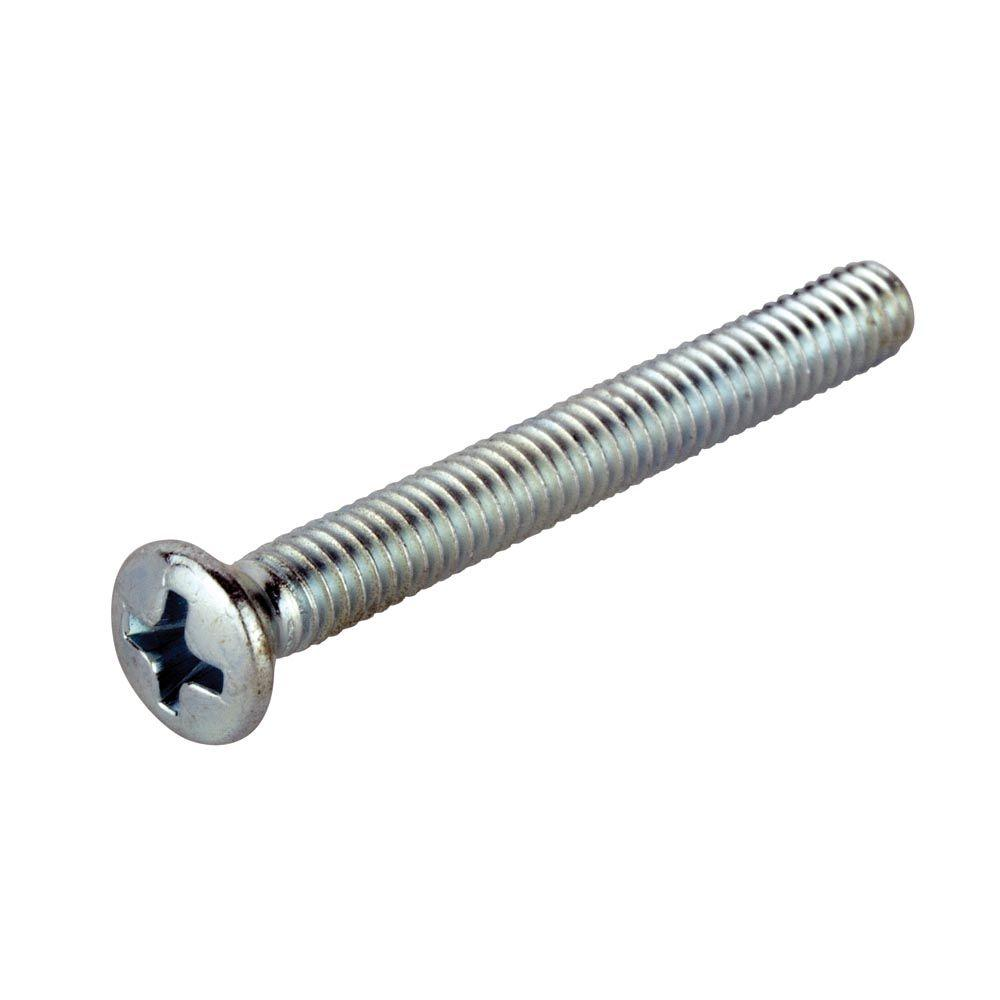 1/4 in.-20 x 3/4 in. Phillips Oval-Head Machine Screws (4-Pack)