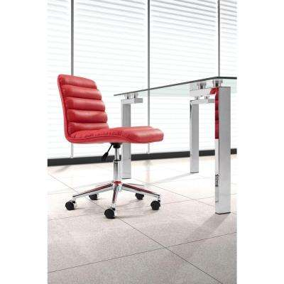 Admire Red Leatherette Office Chair