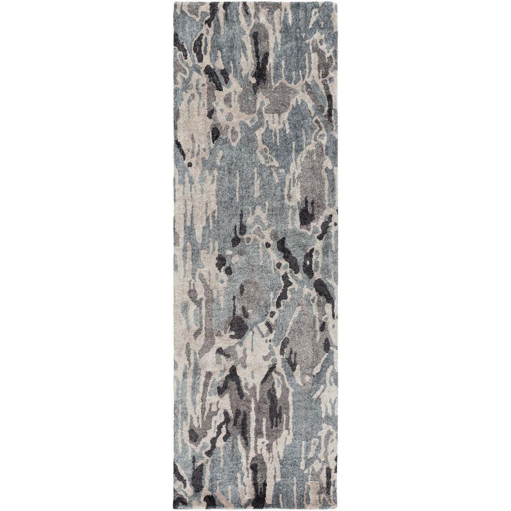 Omis Charcoal (Grey) 2 ft. 6 in. x 8 ft. Indoor Rug Runner