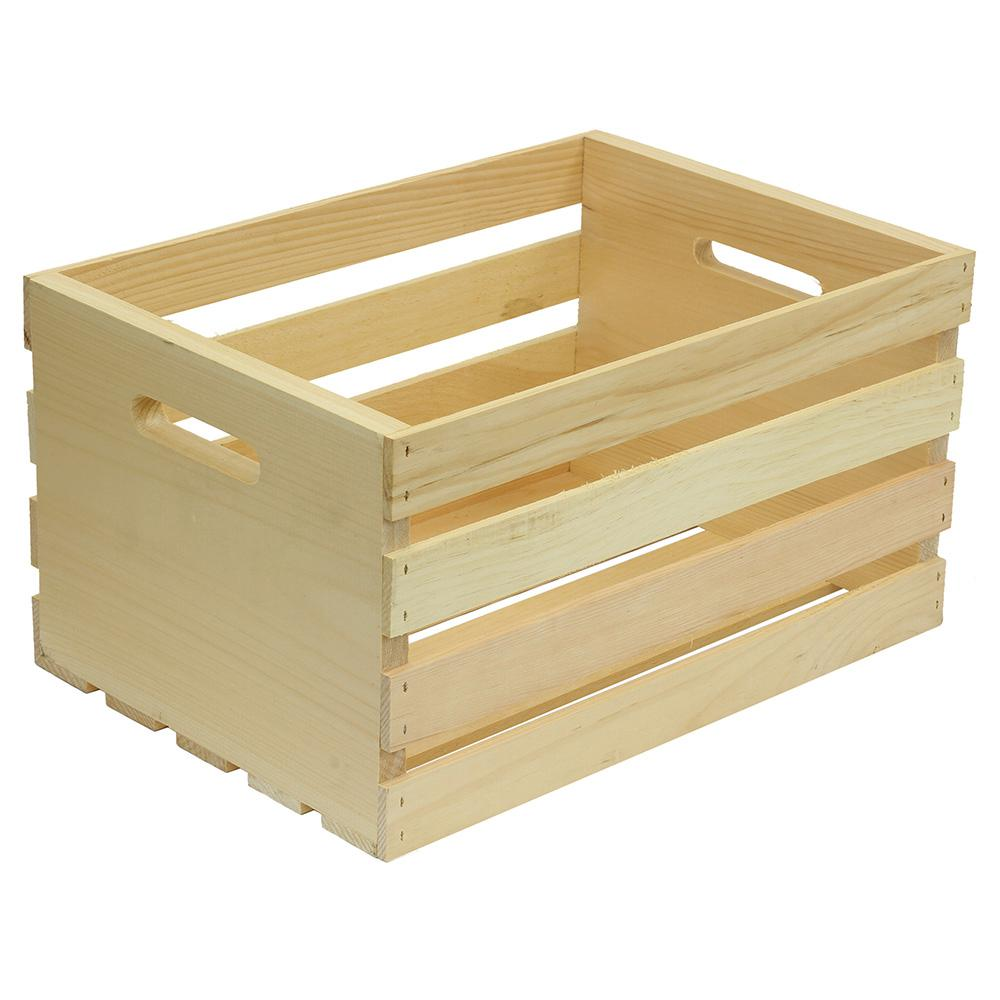 crates & pallet crates and pallet 18 in. x 12.5 in. x 9.5 in. large wood  crate