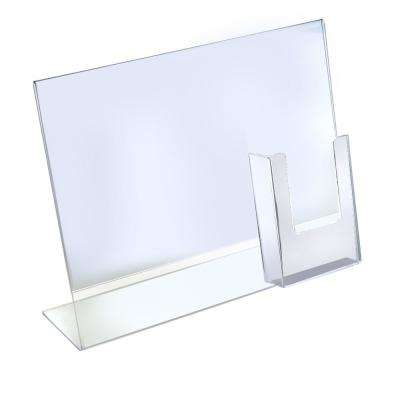 14 in. H x 11 in. W Acrylic Vertical Sign Holder with Brochure Pocket
