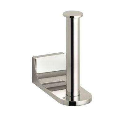 Loure Vertical Single Post Toilet Paper Holder in Vibrant Polished Nickel