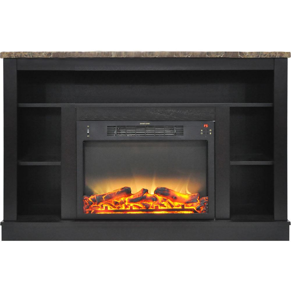47 in. Electric Fireplace with Enhanced Log Insert and Black Coffee