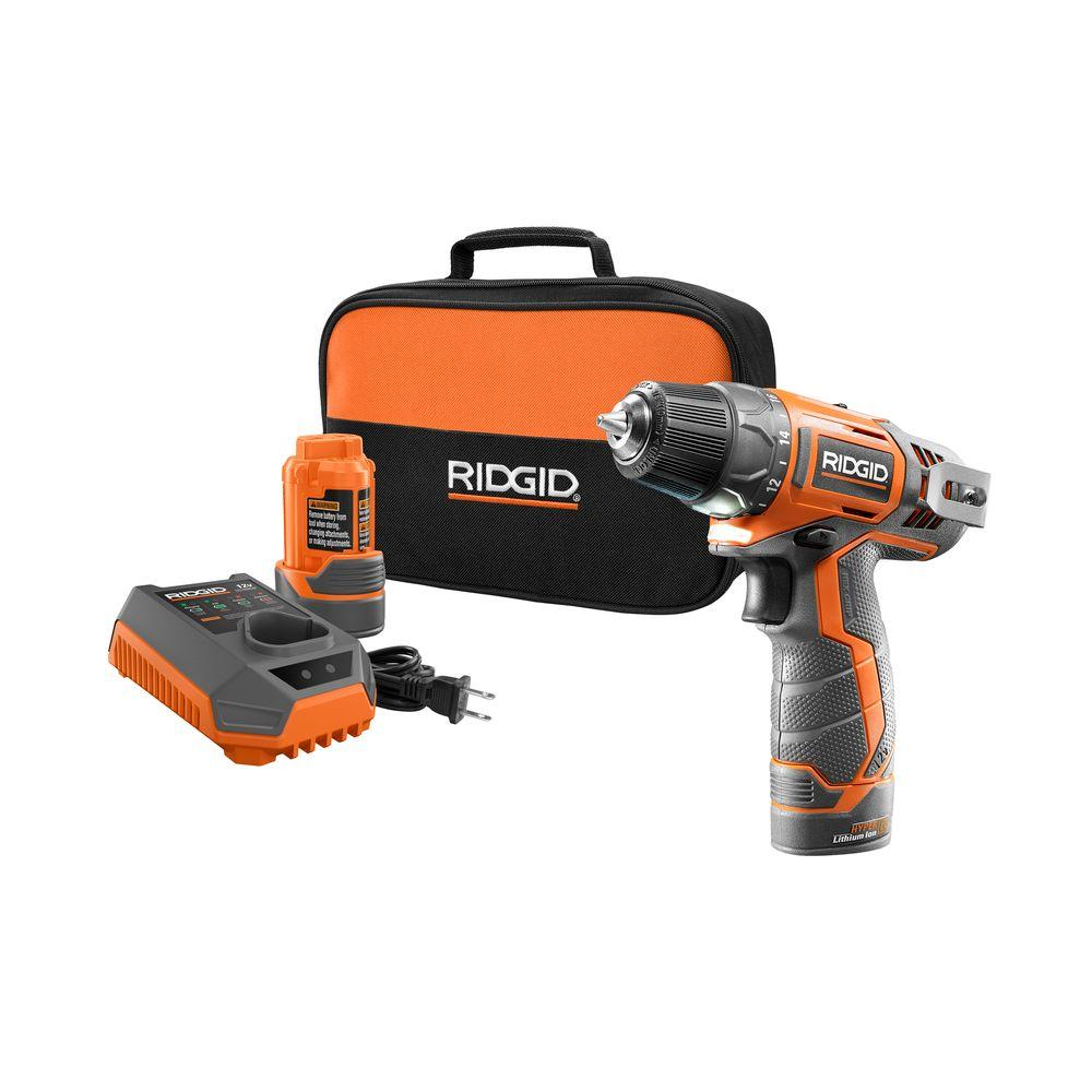 12-Volt Lithium-Ion 3/8 in. Cordless 2-Speed Drill Kit