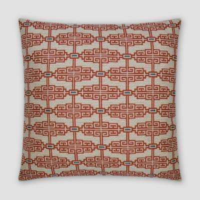 Catalonia Coral Feather Down 18 in. x 18 in. Standard Decorative Throw Pillow