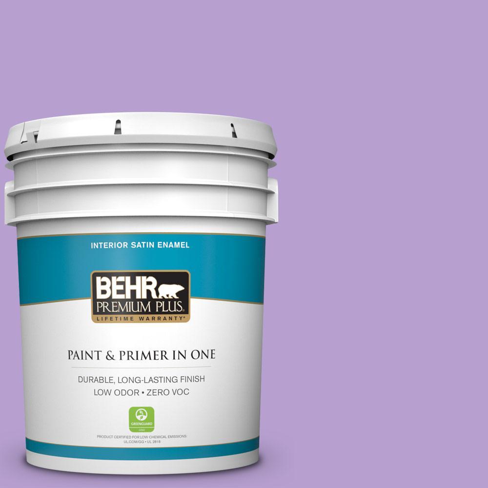 BEHR Premium Plus 5-gal. #P570-3 Flower Girl Satin Enamel Interior Paint