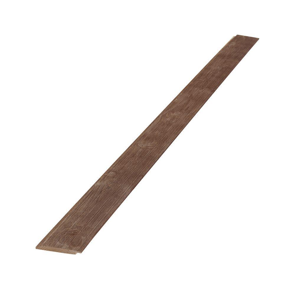 1 in. x 6 in. x 8 ft. Weathered Barn Wood Dark Brown Shiplap Pine Board