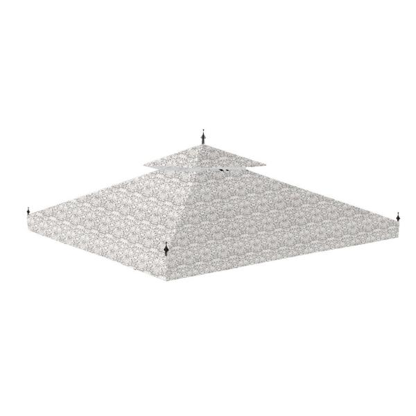 Standard 350 Damask Beige Replacement Canopy for 10 ft. x 10 ft. Arrow Gazebo