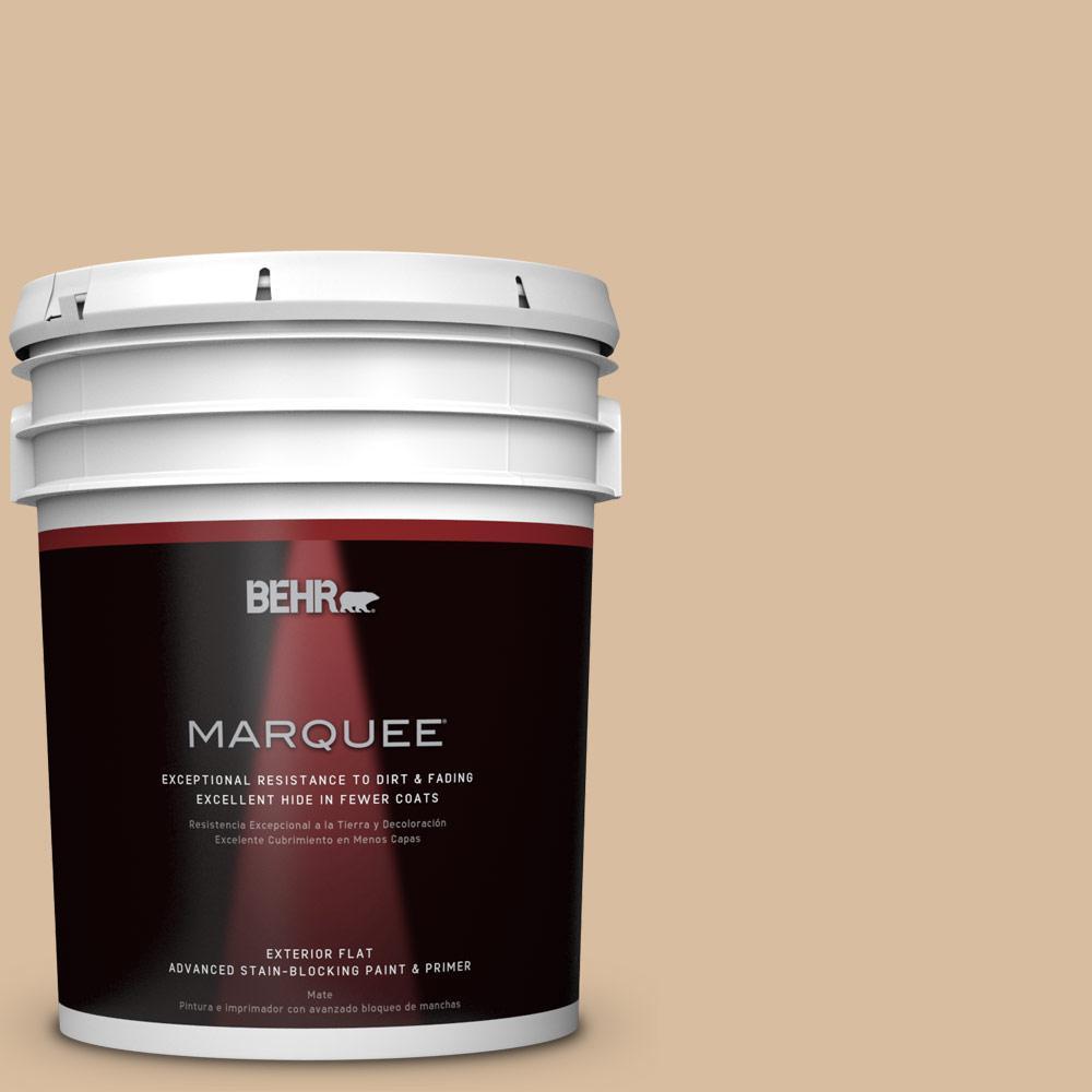 BEHR MARQUEE 5-gal. #PPU4-14 Renoir Bisque Flat Exterior Paint