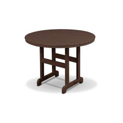 Cape Cod Vintage Lantern 36 in. Round Patio Conversation Table
