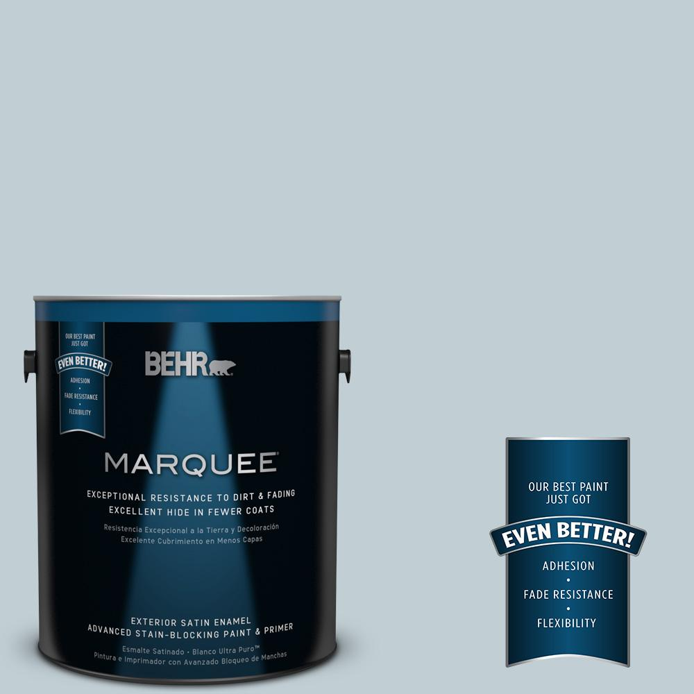 1 gal. #MQ3-58 Alice White Satin Enamel Exterior Paint