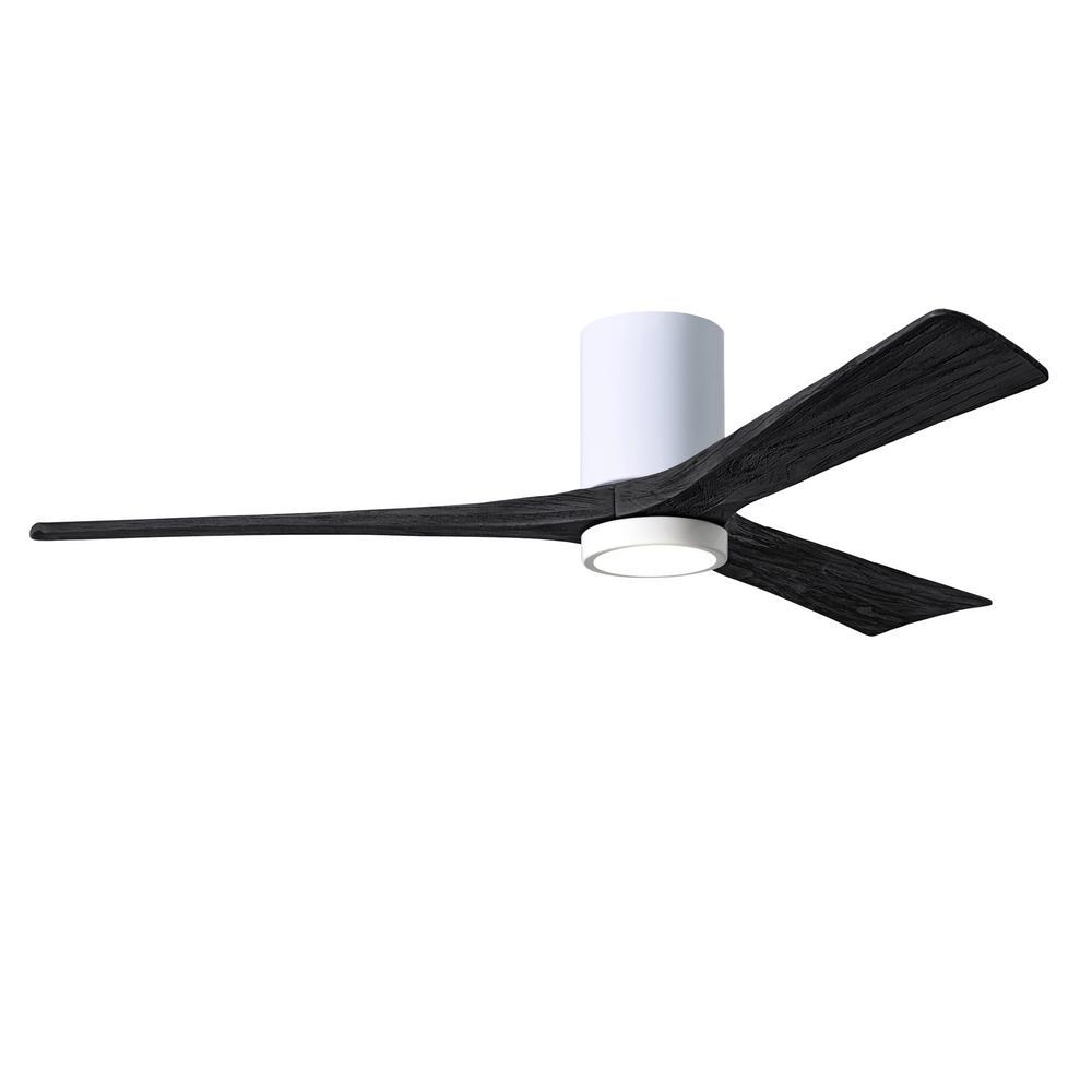 Irene-3HLK 60 in. Integrated LED Gloss White Ceiling Fan with Light Kit