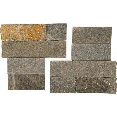 Salvador Grey Corner 6 in. x 6 in. Natural Quartzite Wall Tile (6 sq. ft. / case)