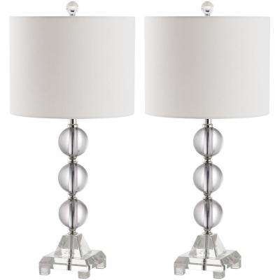 Fiona 24 in. Clear Crystal Table Lamp (Set of 2)