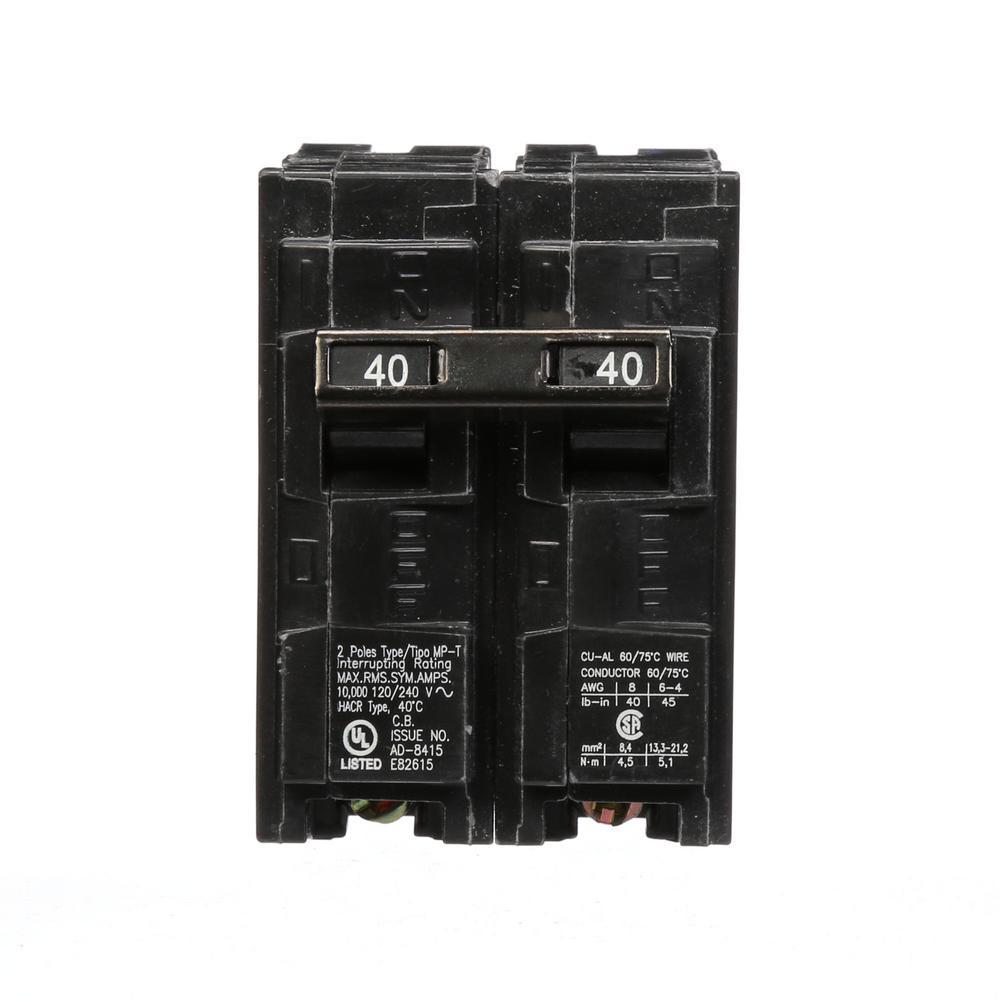 siemens 50 amp double pole type mp circuit breaker mp250 the homemurray 40 amp double pole type mp circuit breaker