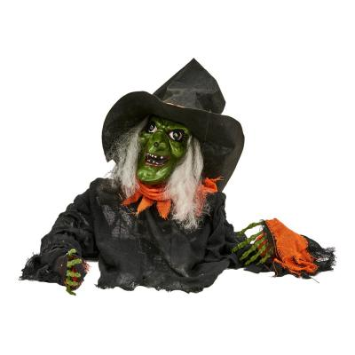 51 in. Animated Ground Breaking Witch