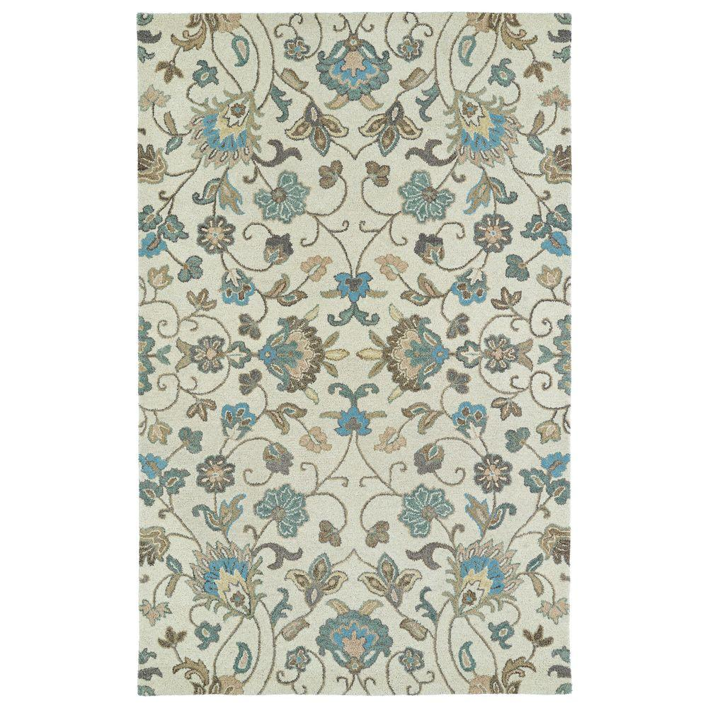 Kaleen Helena Turquoise Area Rug Reviews: Kaleen Helena Beige 8 Ft. X 10 Ft. Area Rug-3208-03 810