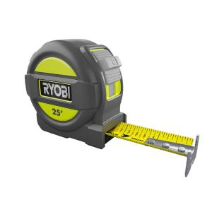 Ryobi 25 ft. Tape Measure with Overmold and Wireform Belt Clip by Ryobi