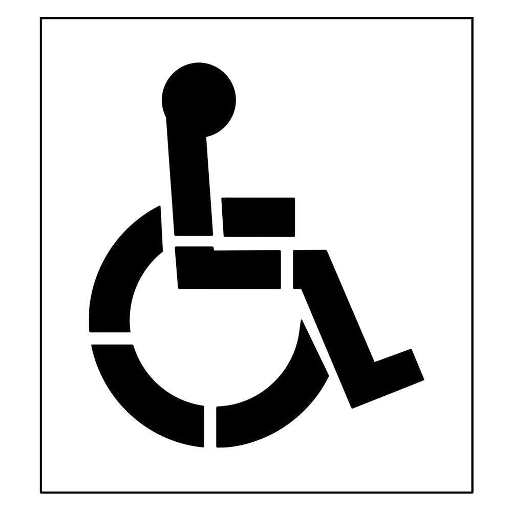 Stencil Ease 39 in. One Part Handicap Stencil with 4 in. Stroke