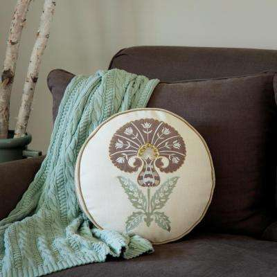 Sultan Carnation 16 in. Round Toss Pillow