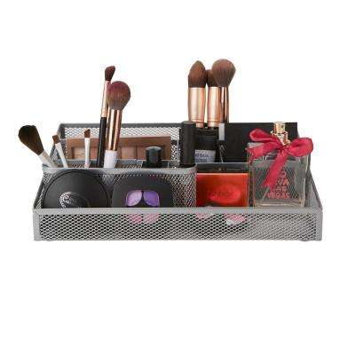 Cosmetic Organizer, Makeup Storage Organizer Tray in Silver