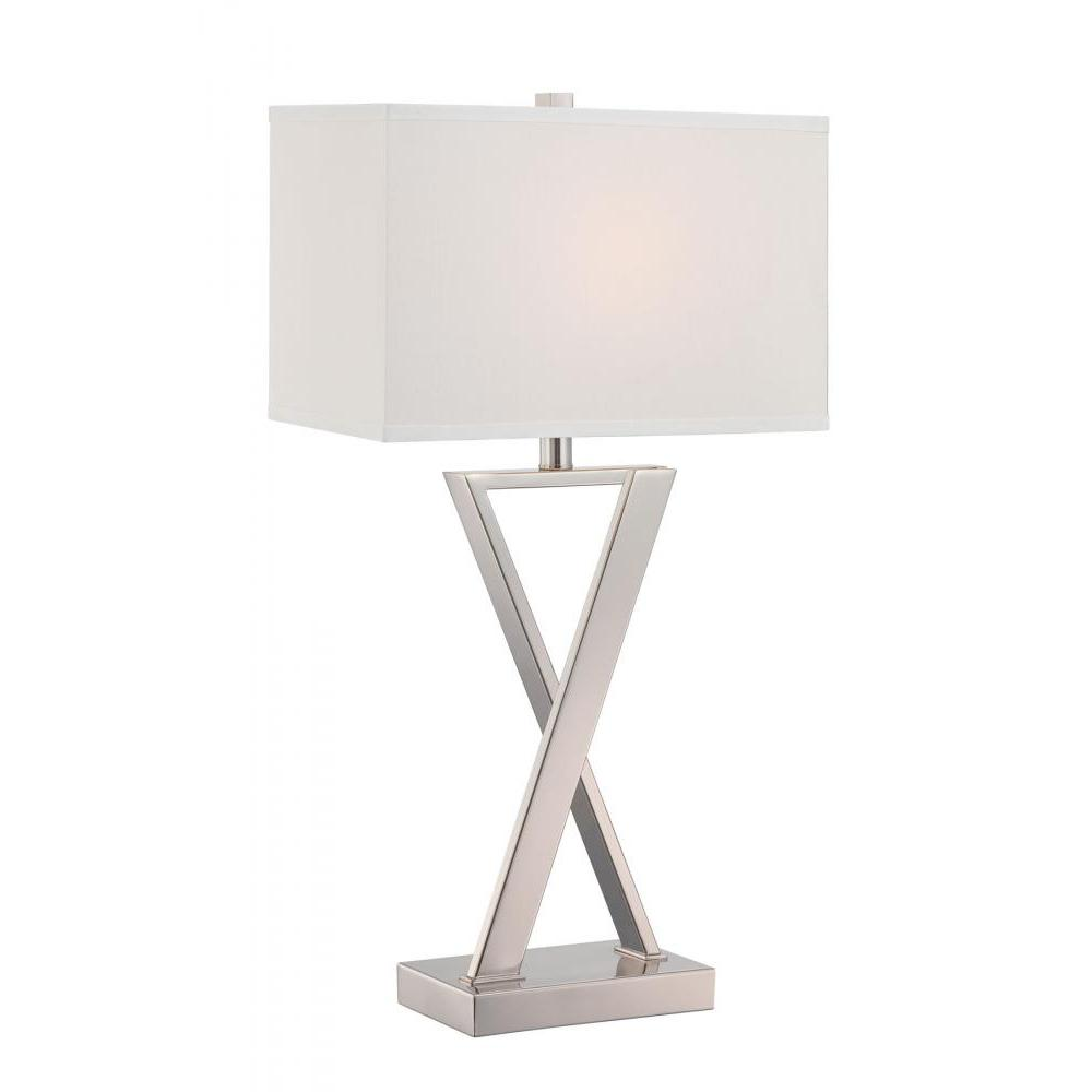 28 in. Polished Chrome Table Lamp