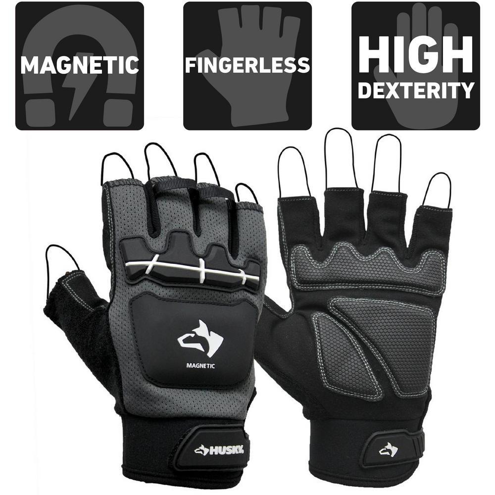 Large Pro Fingerless Magnetic Mechanics Glove
