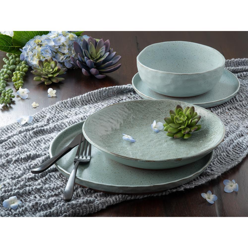 Kaya 16-Piece Casual Blue Stone Dinnerware Set (Service for 4)