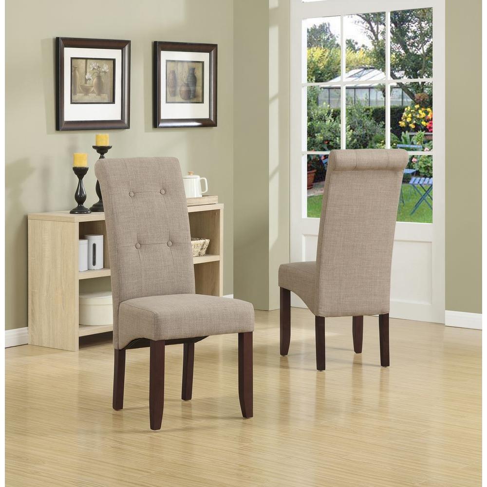 Cosmopolitan Light Mocha Parsons Dining Chair (Set of 2)