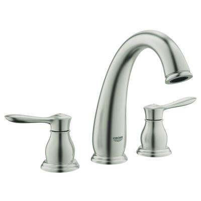 Parkfield 2-Handle Deck-Mount Roman Bathtub Faucet in Brushed Nickel InfinityFinish