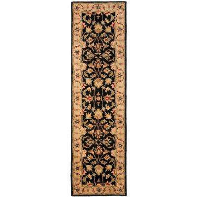 Heritage Black/Gold 2 ft. x 18 ft. Runner Rug