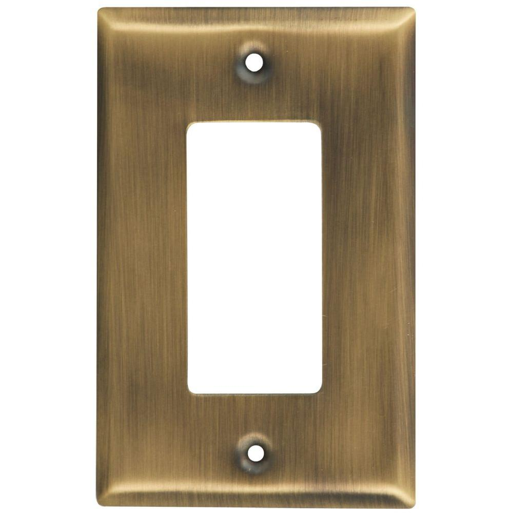 Brass Light Switch Covers Awesome Stanleynational Hardware 1 Rocker Wall Plate  Antique Brass Design Decoration
