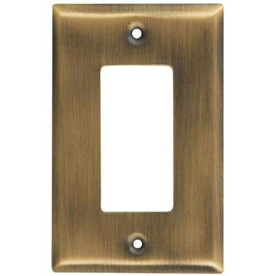1 Rocker Wall Plate - Antique Brass