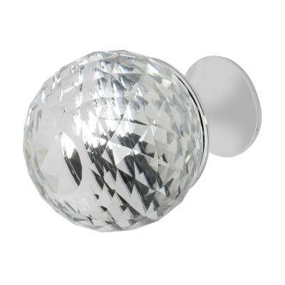 Rondure 1-1/4 in. Chrome with Clear Crystal Cabinet Knob