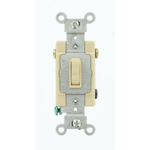 leviton 15 amp commercial grade 3 way toggle switch ivory. Black Bedroom Furniture Sets. Home Design Ideas