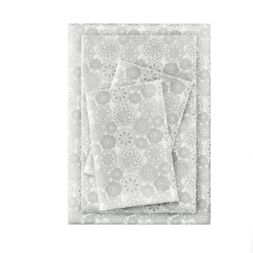 Printed Brushed Microfiber Sheet Set