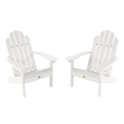 Classic Westport White Plastic Adirondack Chair (2-Pack)
