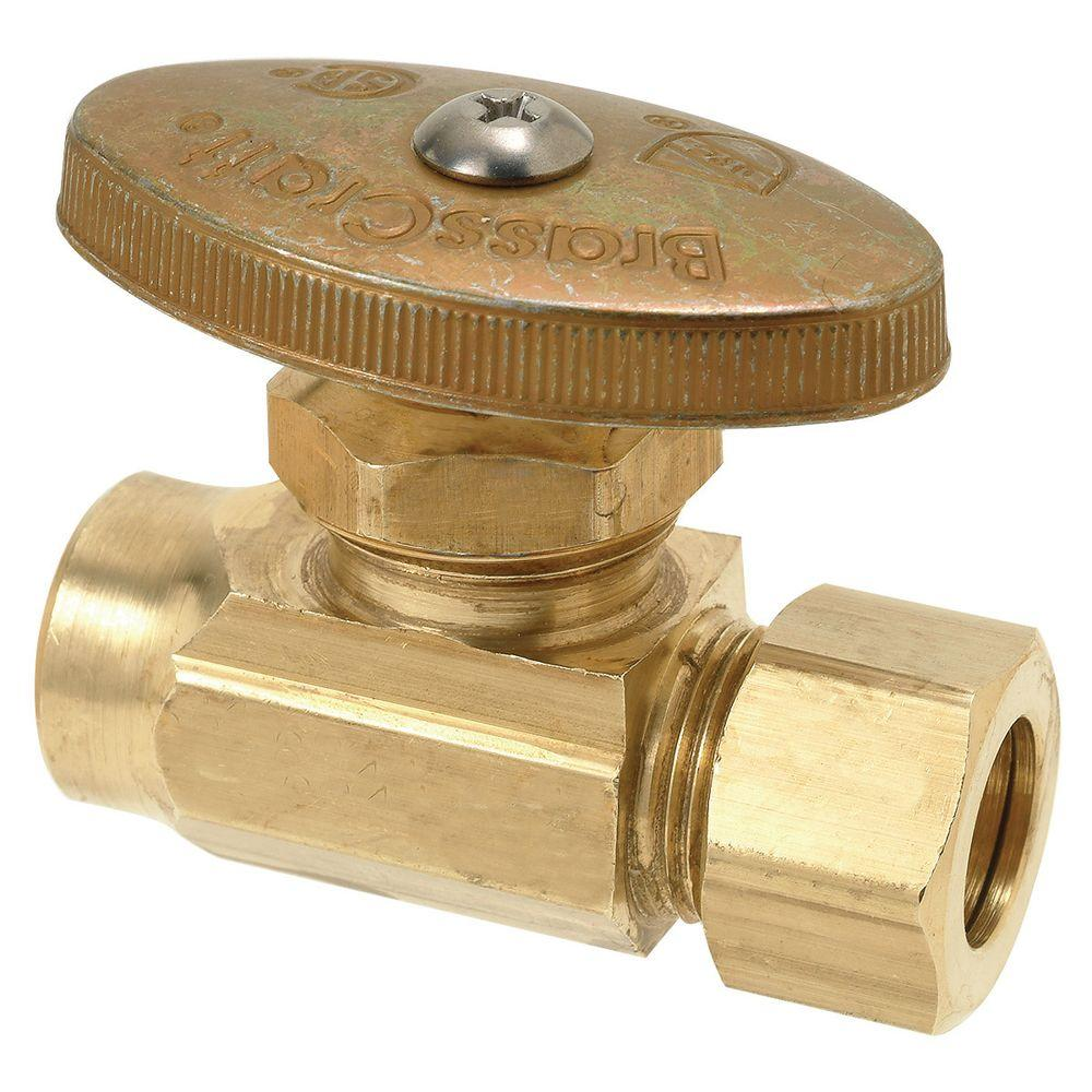 BrassCraft 1/2 in. Nominal Sweat Inlet x 1/2 in. O.D. Compression Outlet Brass Multi-Turn Straight Valve (5-Pack)
