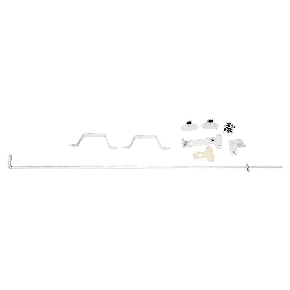 Veranda 36 in. White Stainless Steel Vinyl Fence Drop Rod
